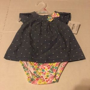 New With Tags Carter's Baby Girl 0-3 Months Dress